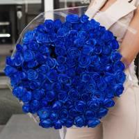 101 синяя роза с оформлением R378