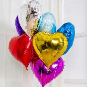 Воздушные шары фольгированые сердца R7688